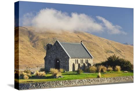 Good Shephard Church, Chapel, Lake Tekapo, Canterbury, South Island, New Zealand-Rainer Mirau-Stretched Canvas Print