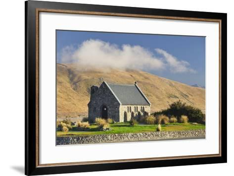 Good Shephard Church, Chapel, Lake Tekapo, Canterbury, South Island, New Zealand-Rainer Mirau-Framed Art Print