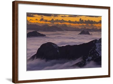 Italy, Lombardy, View of Monte Scorluzzo in to the Direction Engadin-Rainer Mirau-Framed Art Print
