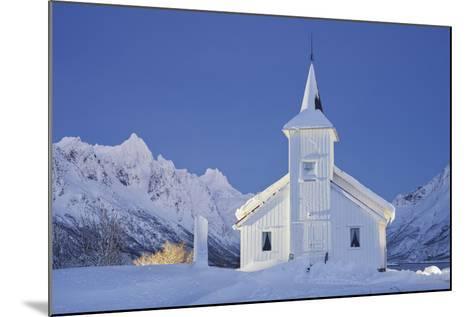 Church in Sildpollneset (Peninsula), Vestpollen, Austnesfjorden, Austvagoya (Island), Lofoten-Rainer Mirau-Mounted Photographic Print