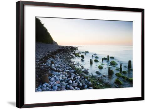 Germany, Mecklenburg-Western Pomerania, Island Reprimands, Baltic Sea Beach, Sunset-Frank Lukasseck-Framed Art Print