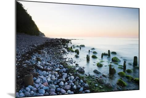 Germany, Mecklenburg-Western Pomerania, Island Reprimands, Baltic Sea Beach, Sunset-Frank Lukasseck-Mounted Photographic Print