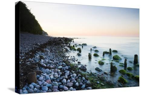 Germany, Mecklenburg-Western Pomerania, Island Reprimands, Baltic Sea Beach, Sunset-Frank Lukasseck-Stretched Canvas Print