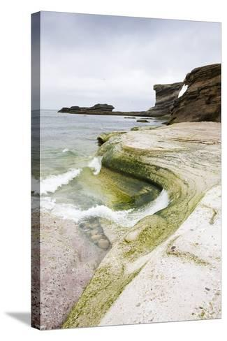 The North Atlantic, Bear Island, Rock Coast-Frank Lukasseck-Stretched Canvas Print