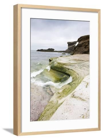 The North Atlantic, Bear Island, Rock Coast-Frank Lukasseck-Framed Art Print
