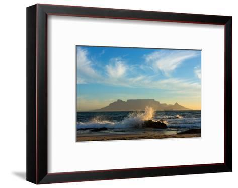 Cape Town, Table Mountain, Coast-Catharina Lux-Framed Art Print