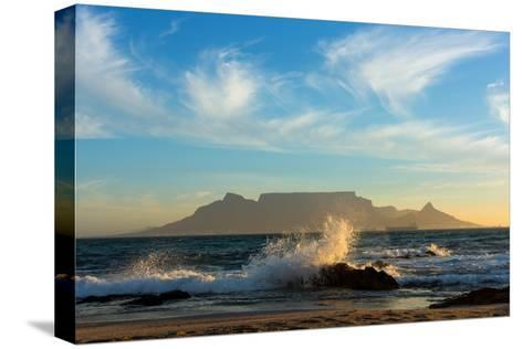 Cape Town, Table Mountain, Coast-Catharina Lux-Stretched Canvas Print