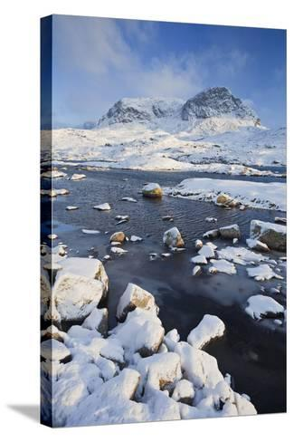 Norway, Hardangervidda National Park, Mountain Landscape, Winter-Rainer Mirau-Stretched Canvas Print