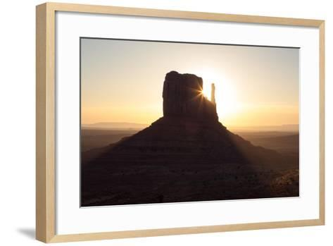 USA, Monument Valley, Sunrise, Sunrays-Catharina Lux-Framed Art Print