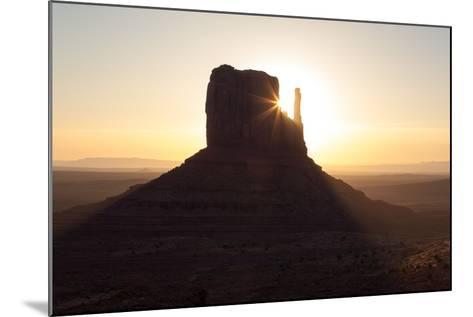 USA, Monument Valley, Sunrise, Sunrays-Catharina Lux-Mounted Photographic Print