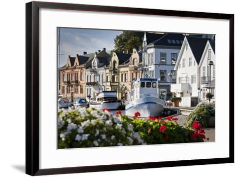 Norway, Rogaland, Farsund, Harbour-Rainer Mirau-Framed Art Print