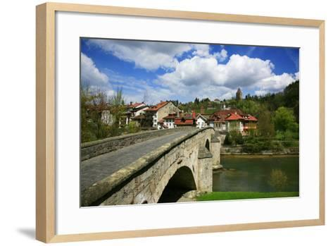 Switzerland, Fribourg on the Sarine River, on the Top Right the Tour Rouge-Uwe Steffens-Framed Art Print