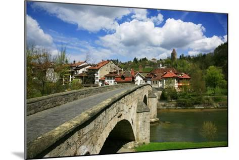 Switzerland, Fribourg on the Sarine River, on the Top Right the Tour Rouge-Uwe Steffens-Mounted Photographic Print