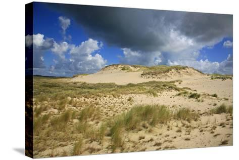 Dark Clouds over the Dune Landscape on the Big Drifting Dune at Listland-Uwe Steffens-Stretched Canvas Print