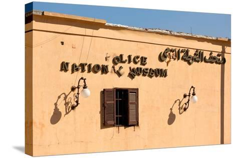 Egypt, Cairo, Citadel, Police Museum, Lettering-Catharina Lux-Stretched Canvas Print