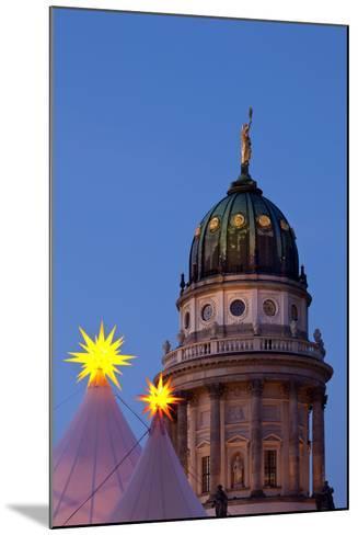 Germany, Berlin, Gendarmenmarkt, German Church, Dome, Dusk, Evening-Catharina Lux-Mounted Photographic Print