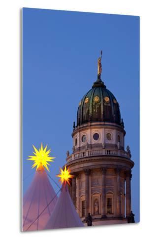 Germany, Berlin, Gendarmenmarkt, German Church, Dome, Dusk, Evening-Catharina Lux-Metal Print