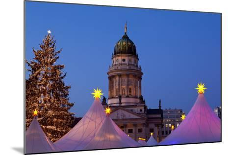 Germany, Berlin, Gendarmenmarkt, German Church, Dome, Dusk, Lighting-Catharina Lux-Mounted Photographic Print