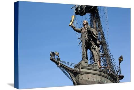 Moscow, Monumental Monument 'Czar Peter the Great'-Catharina Lux-Stretched Canvas Print
