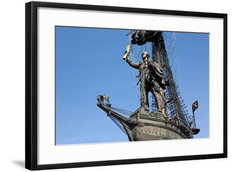 Moscow, Monumental Monument 'Czar Peter the Great'-Catharina Lux-Framed Art Print