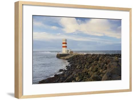 Lighthouse Near Gardur, Reykjanes, SŸdwestisland, Iceland-Rainer Mirau-Framed Art Print