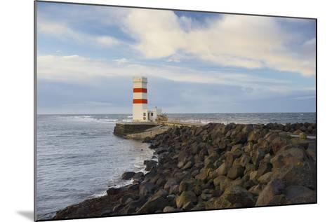 Lighthouse Near Gardur, Reykjanes, SŸdwestisland, Iceland-Rainer Mirau-Mounted Photographic Print