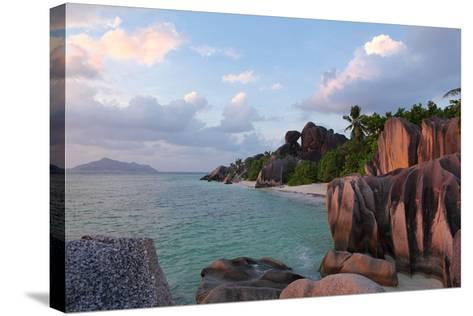 The Seychelles, La Digue, Anse Source D' Argent-Catharina Lux-Stretched Canvas Print