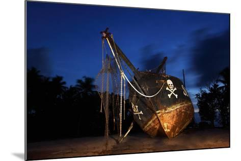 The Seychelles, La Digue, Union Estate, Old Shipyard, Pirate Ship, Evening-Catharina Lux-Mounted Photographic Print