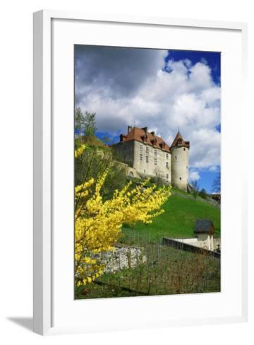 Switzerland, 'Chateau De Gruy?res' in the Swiss Canton Fribourg on a Sunny Spring Day-Uwe Steffens-Framed Art Print