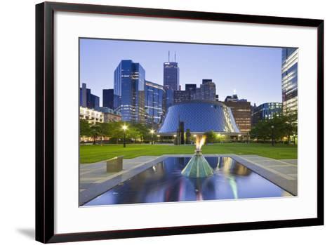 Canada, Ontario, Toronto, Centre, Roy Thompson Hall-Rainer Mirau-Framed Art Print
