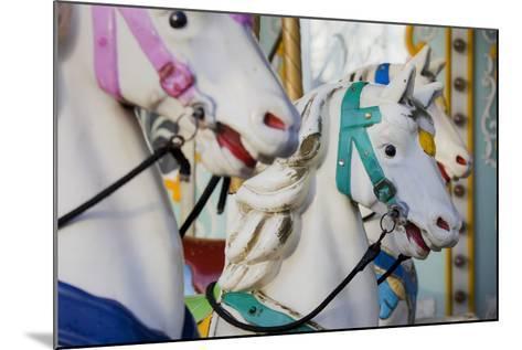 France, Paris, Jardin of the Tuileries, Roundabout, Horses, Detail-Rainer Mirau-Mounted Photographic Print