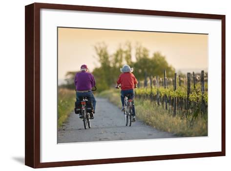 Austria, Burgenland, Neusiedlersee (Lake), Fertš National Park, Senior Citizen's Couple-Rainer Mirau-Framed Art Print