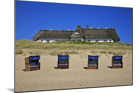 Beach Chairs on the Beach in Front of the 'Soelring-Hof' in Rantum on the Island of Sylt-Uwe Steffens-Mounted Photographic Print