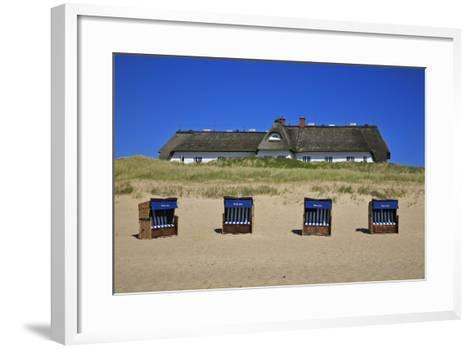Beach Chairs on the Beach in Front of the 'Soelring-Hof' in Rantum on the Island of Sylt-Uwe Steffens-Framed Art Print
