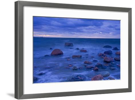 Fehmarn Sound, the Baltic Sea, Evening Mood-Thomas Ebelt-Framed Art Print