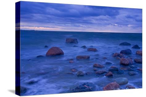 Fehmarn Sound, the Baltic Sea, Evening Mood-Thomas Ebelt-Stretched Canvas Print