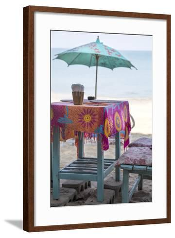 Piece of Furniture, Screen, Brightly, Beach Bar, Thailand, Beach-Andrea Haase-Framed Art Print