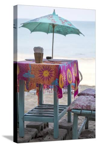 Piece of Furniture, Screen, Brightly, Beach Bar, Thailand, Beach-Andrea Haase-Stretched Canvas Print