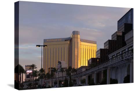USA, Las Vegas, Hotel Mandala Bay, Evening Light-Catharina Lux-Stretched Canvas Print