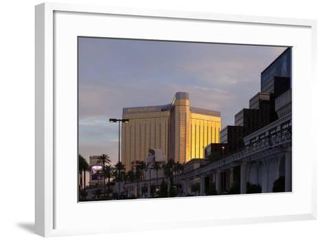 USA, Las Vegas, Hotel Mandala Bay, Evening Light-Catharina Lux-Framed Art Print