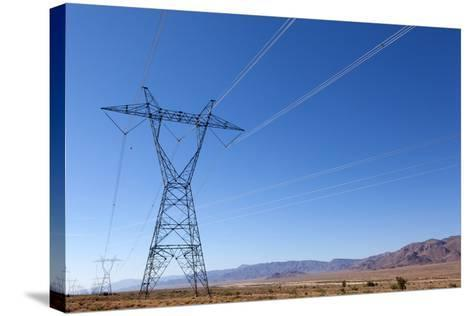 USA, Arizona, Route 66, Wide Landscape, Power Pole-Catharina Lux-Stretched Canvas Print