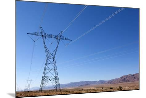USA, Arizona, Route 66, Wide Landscape, Power Pole-Catharina Lux-Mounted Photographic Print