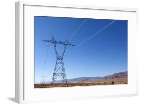 USA, Arizona, Route 66, Wide Landscape, Power Pole-Catharina Lux-Framed Art Print