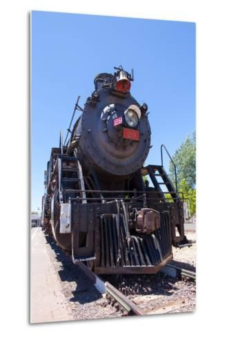 USA, Arizona, Route 66, Williams, Railway Station, Steam Engine-Catharina Lux-Metal Print