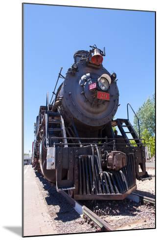 USA, Arizona, Route 66, Williams, Railway Station, Steam Engine-Catharina Lux-Mounted Photographic Print