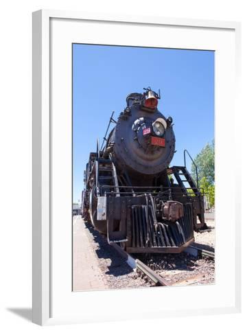 USA, Arizona, Route 66, Williams, Railway Station, Steam Engine-Catharina Lux-Framed Art Print