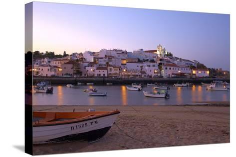 Portugal, Algarve, Portimao, Ferragudo, Townscape, Morning Mood-Chris Seba-Stretched Canvas Print