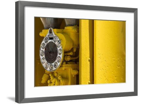 South Africa, Matjiesfontein, Historical Filling Station, Detail-Catharina Lux-Framed Art Print