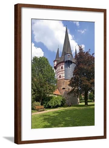 Germany, Hessen, Northern Hessen, Neustadt, Fortified Tower, Middle Ages, Junker Hansen Tower-Chris Seba-Framed Art Print