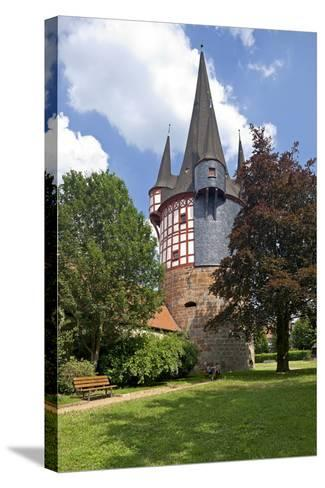 Germany, Hessen, Northern Hessen, Neustadt, Fortified Tower, Middle Ages, Junker Hansen Tower-Chris Seba-Stretched Canvas Print